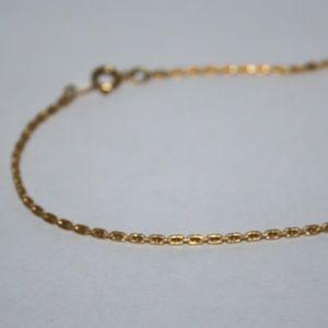 """Long vintage gold ankle bracelet 9"""""""